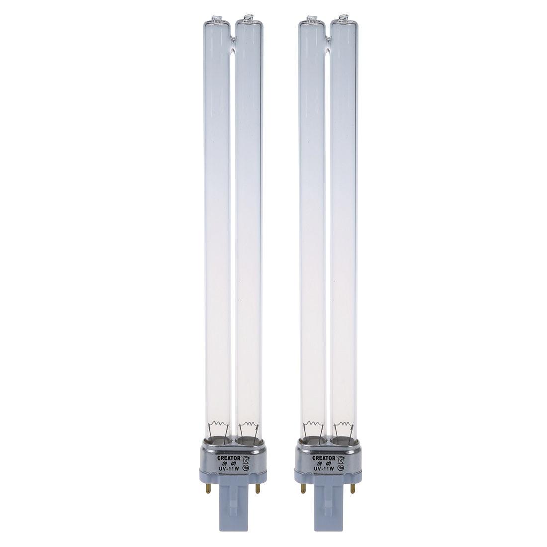 أرخص 2 قطعة 11 واط قاعدة من G23 لمبة إضاءة معقم بالأشعة فوق البنفسجية مصباح الأشعة فوق البنفسجية لحوض السمك
