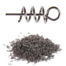 50 шт. или 100 шт./лот, рыболовный крючок, Мягкая приманка, пружинные Центрирующие шпильки, фиксированная защелка, игла, пружинный Поворотный фиксатор для мягкой приманки, защелка