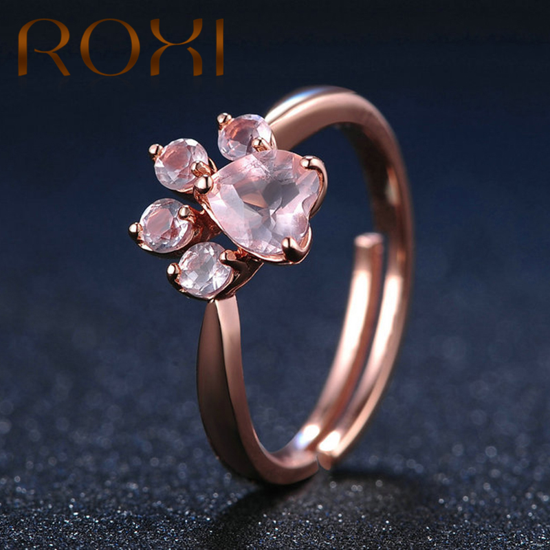 ROXI Real 925 Sterling Silver Ring For Women Rose Gold