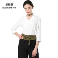 White SPA work uniform Thai massage health Overalls set women nurses suits wholesale Beauty salon clothing