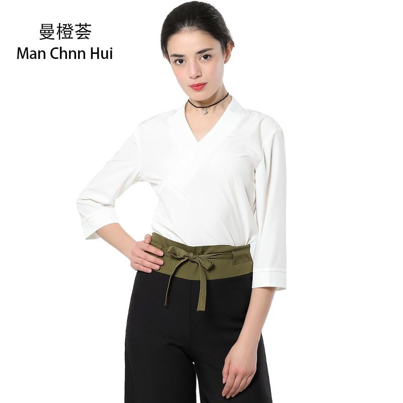 White spa work uniform thai massage health overalls set for Uniform thai spa
