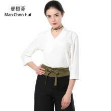White SPA work uniform Thai massage health Overalls set women nurses suits wholesale Beauty salon clothing