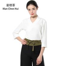 White SPA work uniform…