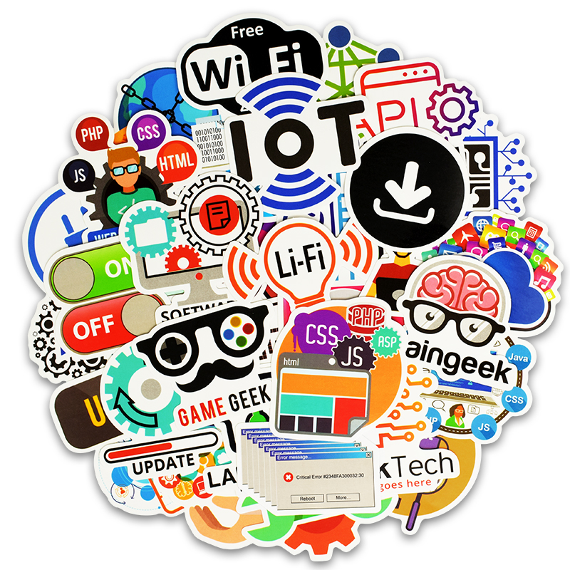 Aufkleber Klassische Spielzeug 102 Stücke Internet Programmierung Aufkleber Wissenschaft Js Php C Sprache Wolke Docker Entwickler Aufkleber Für Diy Laptop Telefon Auto
