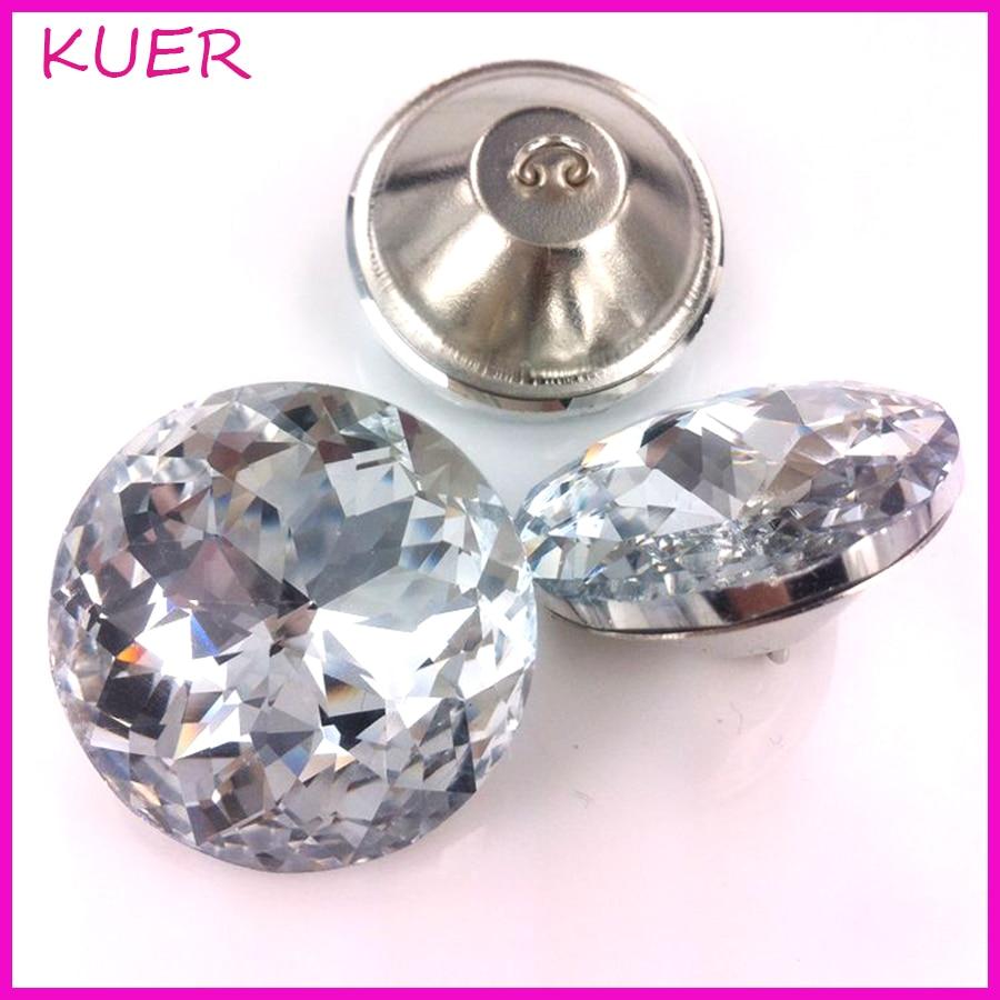 Nail Buttons: 20/25/30/45mm Shiny Diamond Pattern Crystal Sofa Screw