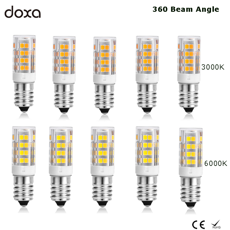 10pcs E14 LED Lamp 220V 51LED Corn Light Bulb Lampe Bombillas 3.5W 2835SMD Replace 20W 30W Halogen Chandelier 3000K 4000K 6000K