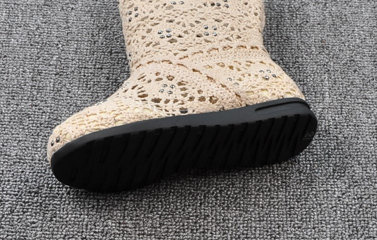 (A241)18 Classical Kids Shoes Summer Girls Boots Knitting Hollow Children Shoes Fashion Network Boots For Girls 4
