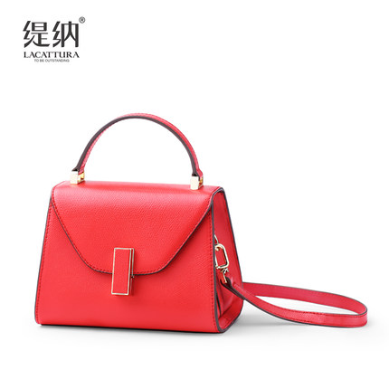 A1361 Lacattura brand Women Bags Fashion Vintage real Leather Handbags OL style Casual Shoulder Messenger Crossbody Totes