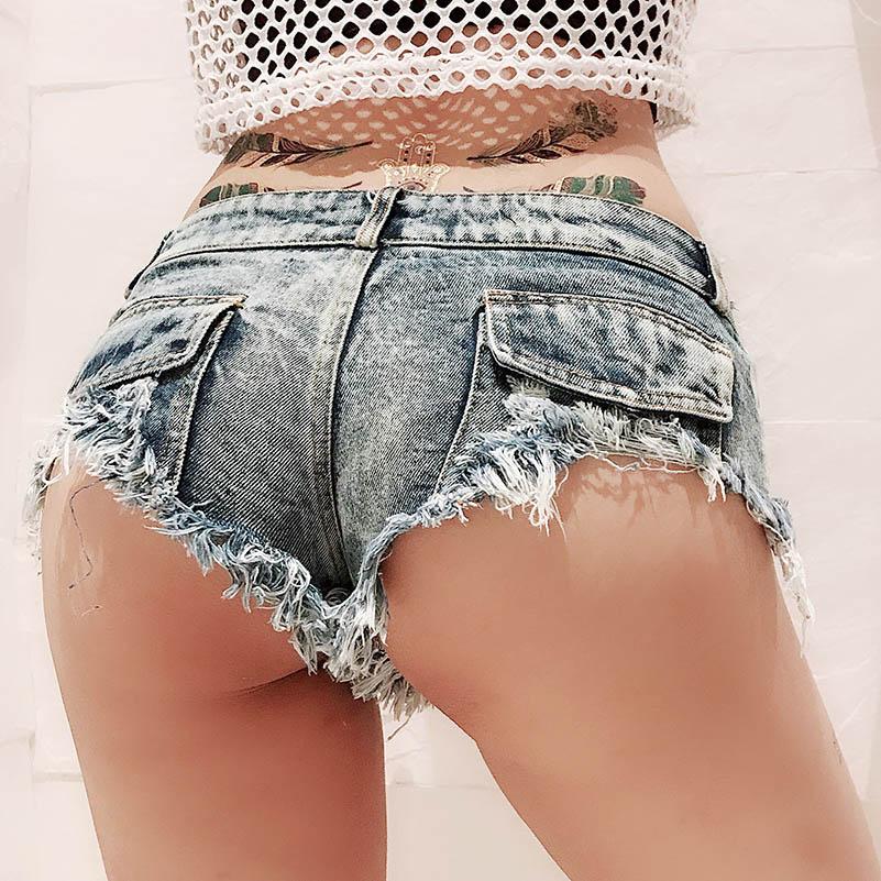 NiceMix 2019 Fashion Shorts Hot Women Summer Harajuku Sexy Tight blue ultra Rivet short pants Strap Ladies Girls Casual spodenki