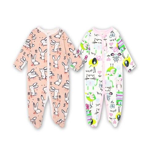 2 Unids / set Algodón bebé mamelucos traje recién nacido bebé - Ropa de bebé