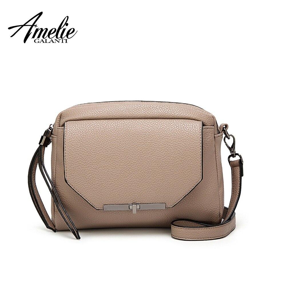 5f0e685042c AMELIE GALANTI small crossbody bags for women 2018 practical female PU  leather shoulder bags long strap women bag ladies purse