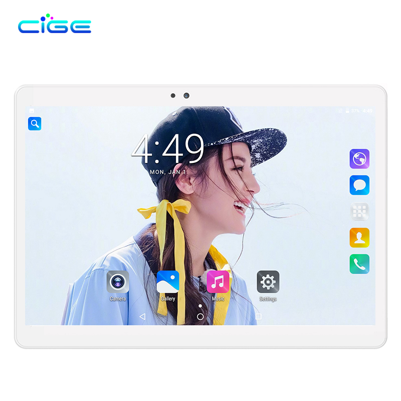 CIGE Free shipping 10 inch Tablet PC Octa Core 4GB RAM 64GB ROM Dual SIM Cards Android 7.0 GPS Tablet PC 10 10.1 +Gifts cige a6510 10 1 inch android 6 0 tablet pc octa core 4gb ram 32gb 64gb rom gps 1280 800 ips 3g tablets 10 phone call dual sim
