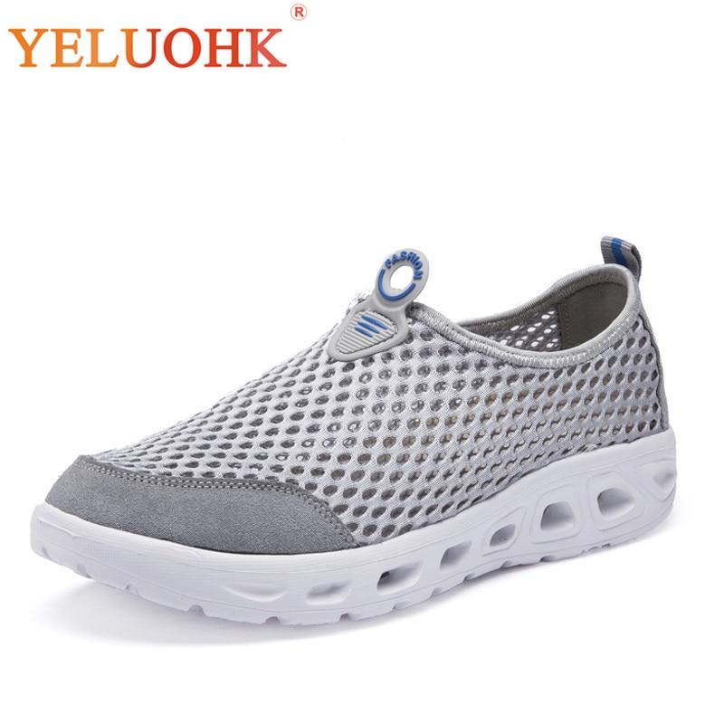 39-45 Men Casual Shoes Slip On Breathable Mesh Shoes Men Comfortable Summer Sneakers Men