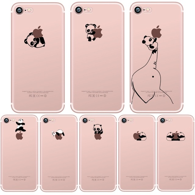 coque iphone 7 transparente panda
