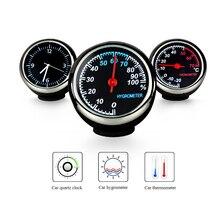 Enfeites de carro Termômetro Auto Relógio Carro Termômetro Higrômetro Higrômetro Relógio de Quartzo Relógio Eletrônico Automotivo