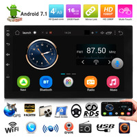 VODOOL 7in Touch Screen Car MP5 HD Player Support DVR Bluetooth Android Auto Stereo Audio Players FM Radio GPS Navigator