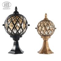 European Vintage Garden Lighting Pillar Villa Glass Waterproof Outdoor Lights Lawn Grass LED Floor Yard Lamp IP65
