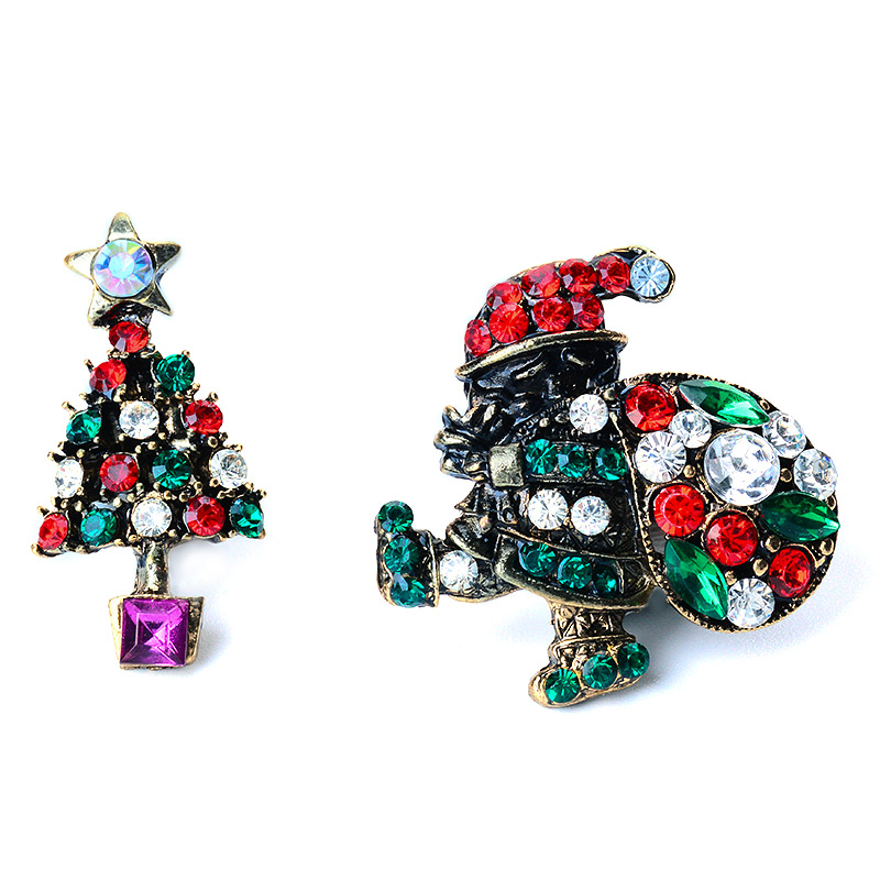 H:HYDE Hot Jewelry Christmas ornament Suit Sweater Brooches Christmas party Gift Bijoux Decoration For Women Brooch Hijab Pins
