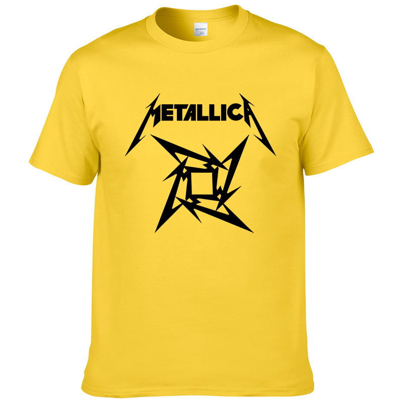 Summer Fashion Mens Heavy Metal Rock Metallica   T     Shirt   Men short Sleeve Rock Classic Cotton   T     Shirt   European Size XS-XXL #199