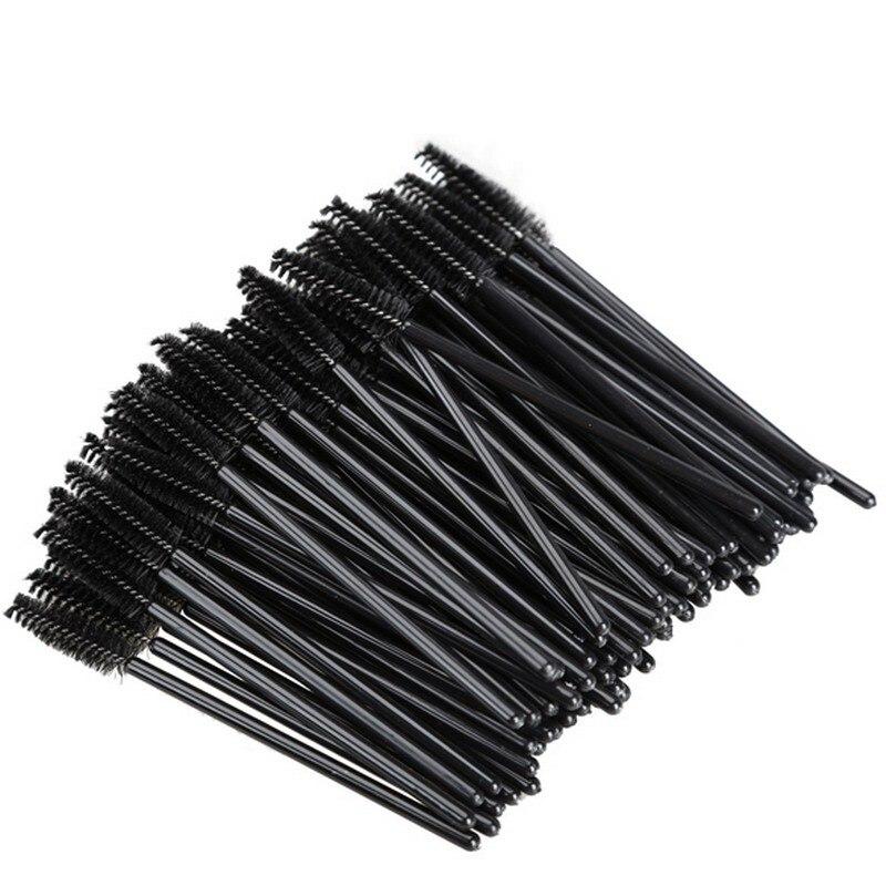 50pcs/pack Disposable Eyelash Brushes Microbrushing Makeup Brush Mascara Applicator Natura