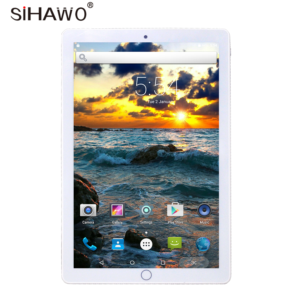 New 10.1 Inch Dual SIM Phone Call Android7.0 MTK Octa Core 2G+32G Tablet PC WiFi Bluetooth4.2 GPS 1920x1080P IPS Original Design
