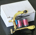 M08 Golden Color Top Handmade Iron Tattoo Machine Gun for Shader & Liner  Tattoo Supply