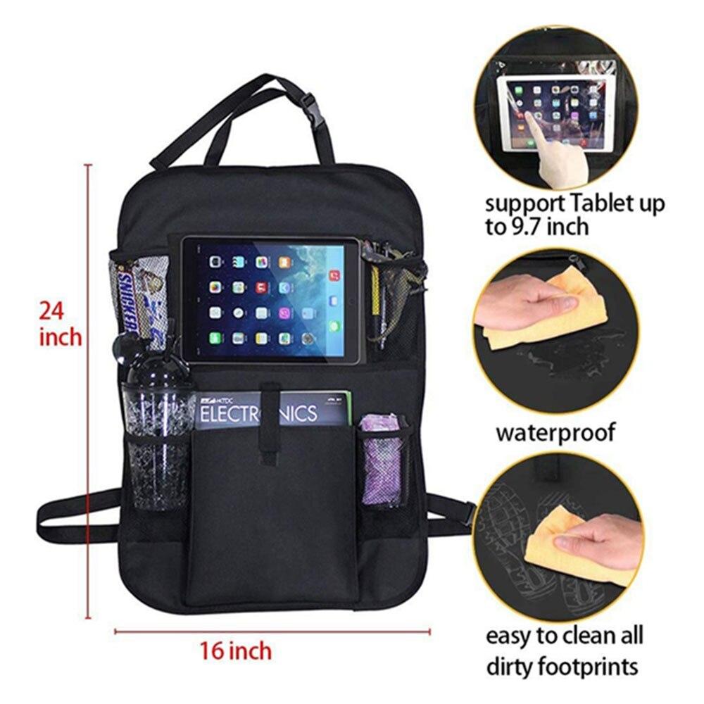 Vehemo подвесная сумка для сиденья автомобиля автоматическое хранение сумка на спинку кресла путешествия Анти-кик коврик детский коврик уход за автомобилем