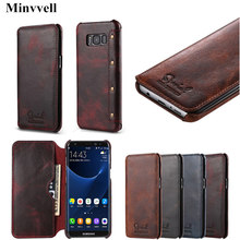 Business Real Genuine Leather Flip Cover Case For Samsung Galaxy S9 Plus S8 Plus Note 8 Luxury Leather Wallet Case Retro Vintage flip case leather luxury wallet business vintage book design cover for samsung galaxy s9 s9plus note 9 note 8 s8 s8plus js0716