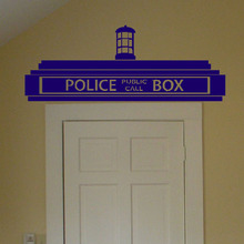 Creative Doctor Who Tardis Police Box Wall Decals, Transfer Sign Vinyl Wall  Sticker For Children/Kids Bedroom Decor Part 21