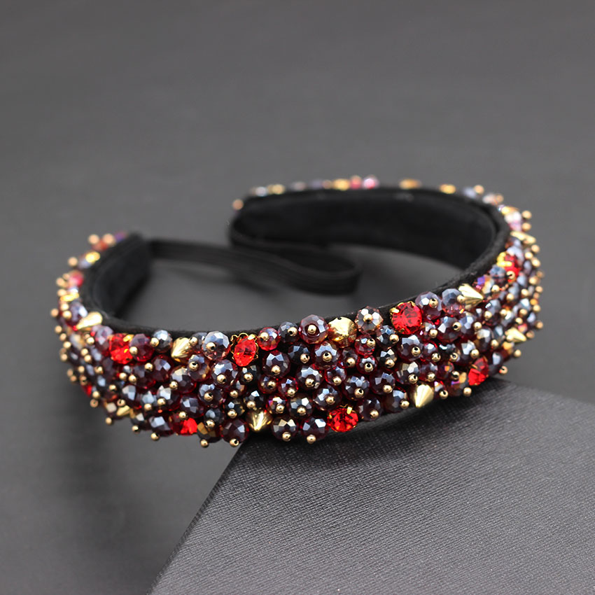 Image 2 - Acrylic beads drop hand sewing heavy duty headband Baroque heavy work simple small particles geometric luxury headband 872-in Hair Jewelry from Jewelry & Accessories