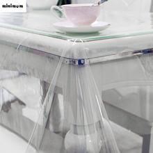 Ультратонкая скатерть из ПВХ прозрачная пластиковая мягкая стеклянная