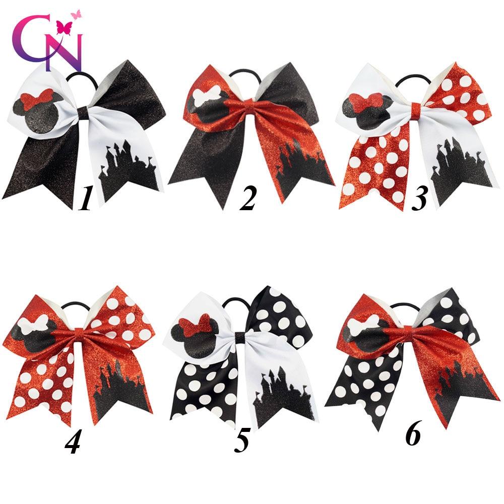 7 Glitter Minnie Mouse arquea con banda de Pelo elástico para Niñas ...