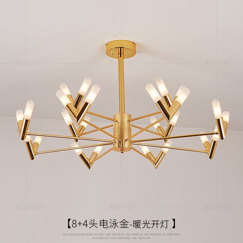 Post-modern golden chandelier lighting dining room modern led G9 chandeliers Acrylic lamp shade AC 90V-260V