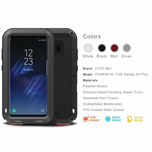 Image 3 - New 2017 S8 S8 Plus Case LOVE MEI Life Waterproof Metal 3 Proof Phone Case for SAMSUNG Galaxy S8 Plus S8+ Full protection Covers