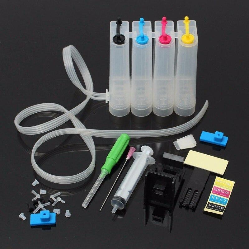 INKARENA Ciss tinta Kits de repuesto para HP 302 302 XL Deskjet serie 2130, 1112, 3630, 3632 HP Officejet 4650 4652 4655 envidia 4516 impresora 4520