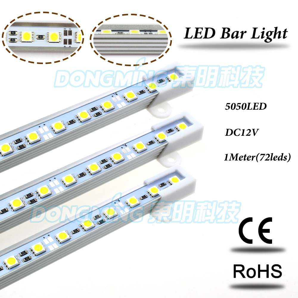50CM 12V 36 LED 5050 SMD Hard Strip Bar Light Aluminum Rigid Warm White SODIAL R