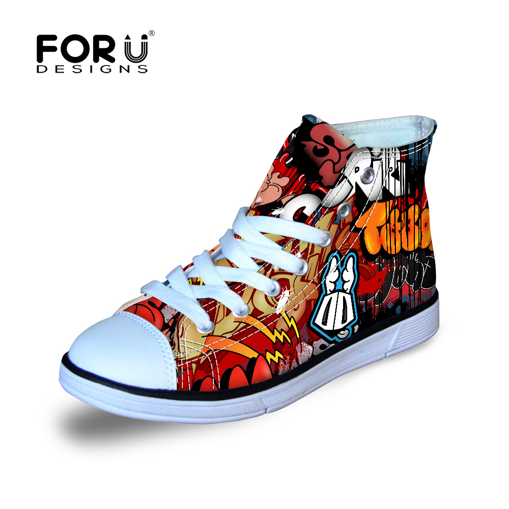 Fresh Graffiti Shoe Designs For Boys And Girls Letter Canvas Shoes Breathable Students Board Sneakers Children School Shoes In Athletic Shoes From Mother