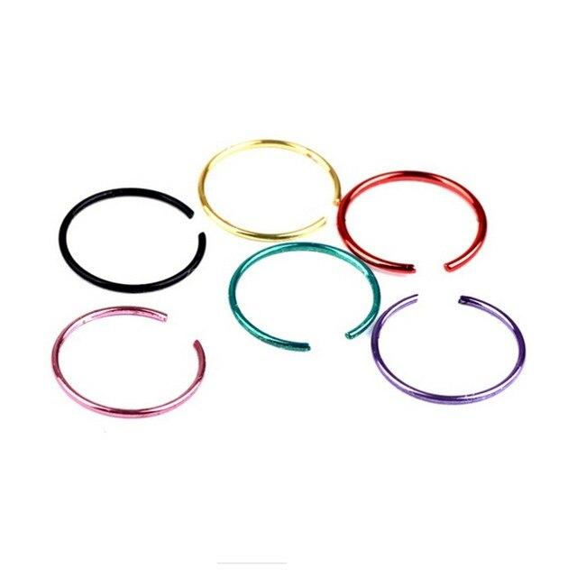 40 шт смешанных цветов золотой пирсинг кольцо для носа женщин