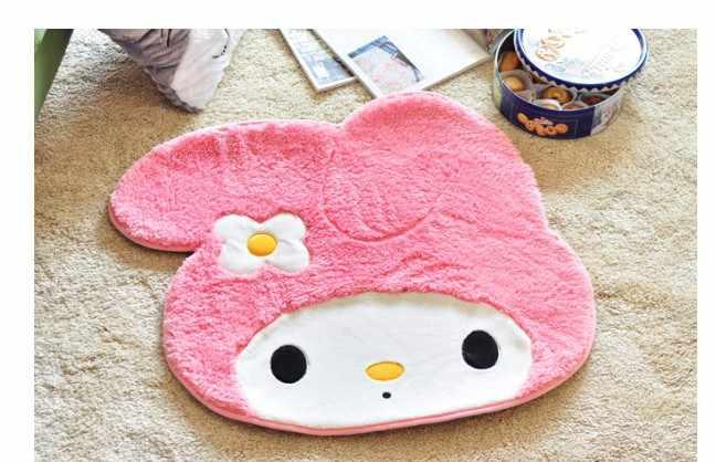 Freies shiping größe: 70x60cm my melody rosa nette so weich teppich Die schlafzimmer matte matte halle teppich pad
