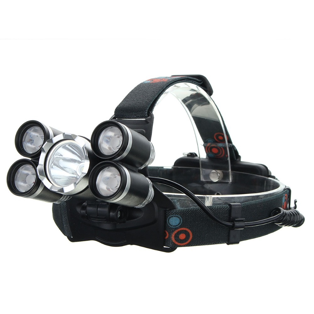 New XM-L T6 XPE 50000 Lumens 4 Modes Waterproof LED Headlamp Headlight Torch Lamp Lights for Bicycle Bike Outdoor Camping 2000 lumens cree xm l t6 5 modes led tactical flashlight torch waterproof lamp torch hunting flash light lantern for camping