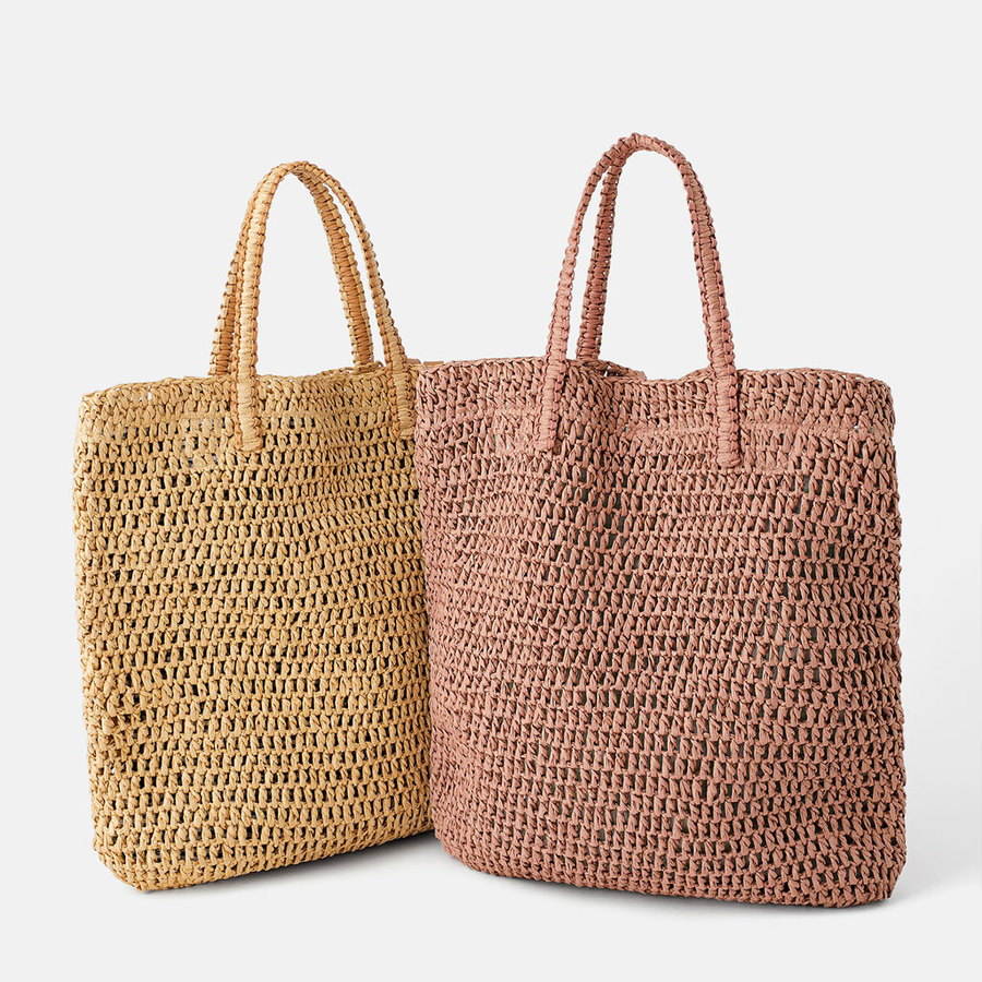 Casual Straw Bags Large Capacity Women Totes Designer Brand Lady Rattan Shoulder Bags Woven Wicker Handmade Summer Beach Purses