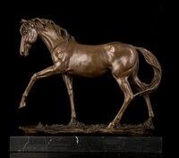 Медь ремесел бестселлера Классическая Верховая диких животных головы реального Чистая латунь скульптуры, статуи фигурок лошадей full speed