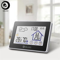 Digoo DG TH8380 Wireless Thermometer Hygrometer Touch Screen Weather Station Thermometer Outdoor Forecast Sensor Clock