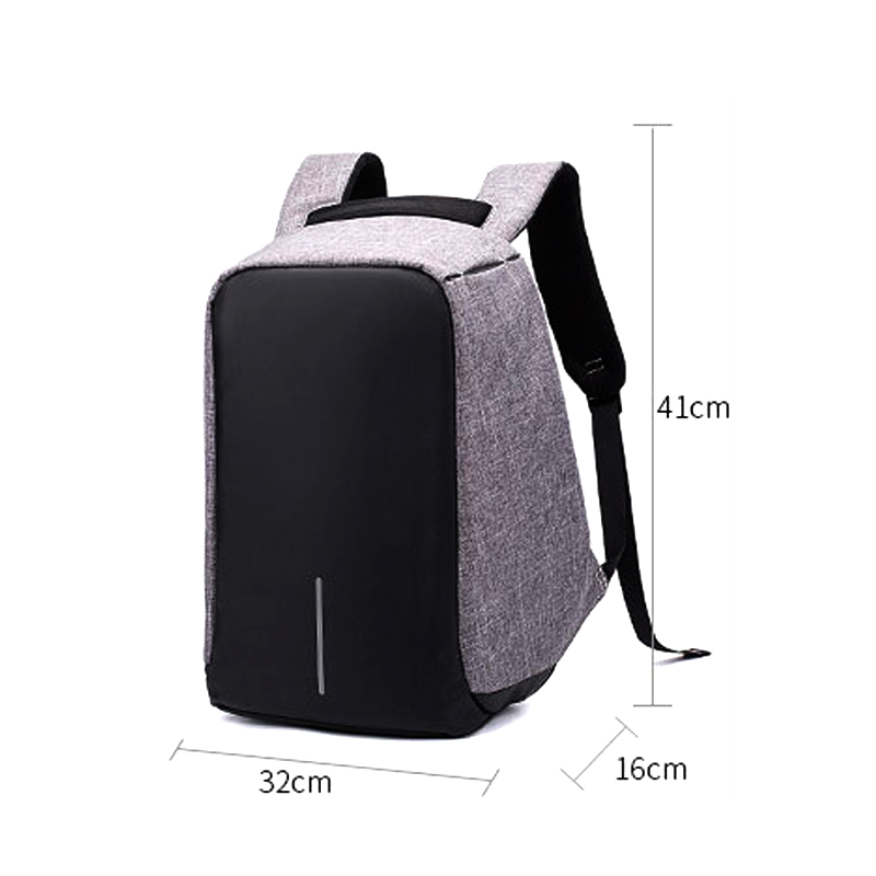 USB Charge Anti Theft Backpack for Men 17 inch laptop bag backpack PU square vertical section Travel duffel bag7.5