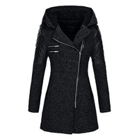 Woman Coats Winter Women Warm Slim Jacket Thick Parka Overcoat Winter Outwear Hooded Zipper Coat wool coat Casual long Parka