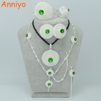 4 Color Stone Can Choice Ethiopian Silver Jewelry Sets Hair Piece Forehead Chain Eritrea Jewelry Habesha