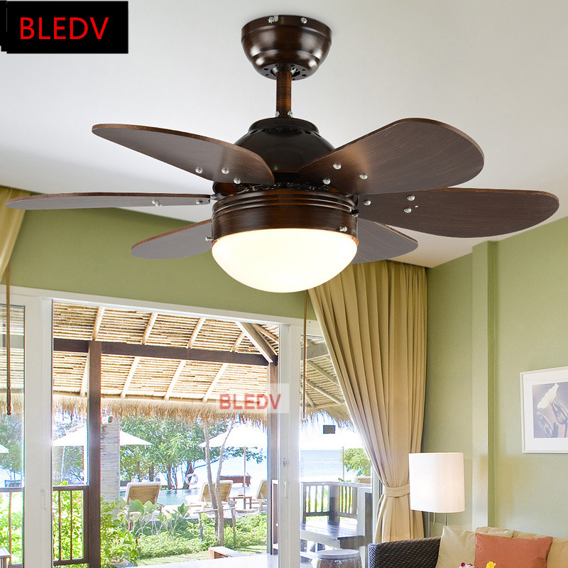Factory direct sales of american retro led ceiling fans creative 6 factory direct sales of american retro led ceiling fans creative 6 wood blades remote cooler lighting fixtures in ceiling fans from lights lighting on aloadofball Images