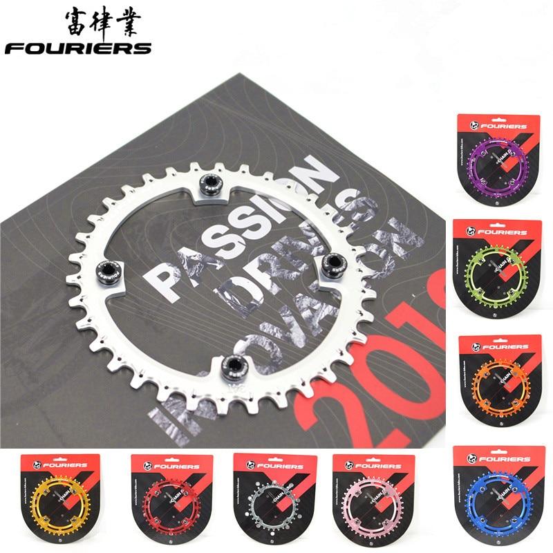 Fouriers bicicleta MTB ChainRing 104BCD montaña AM FR DH bielas diseño agujero de drenaje diente cadena bicicleta cadena 34 T 36 t