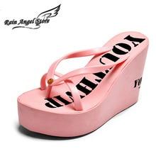 Europe And America Women Wedges Platform Shoes Designer Flip Flops Non slip Thong Sandals Women Summer