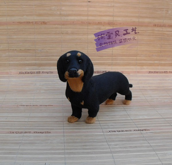 new simulation dachshund dog toy polyethylene&furs standing dog doll gift about 21x5x12cm 0989